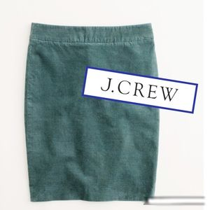 J CREW PENCIL CORDUROY  SKIRT